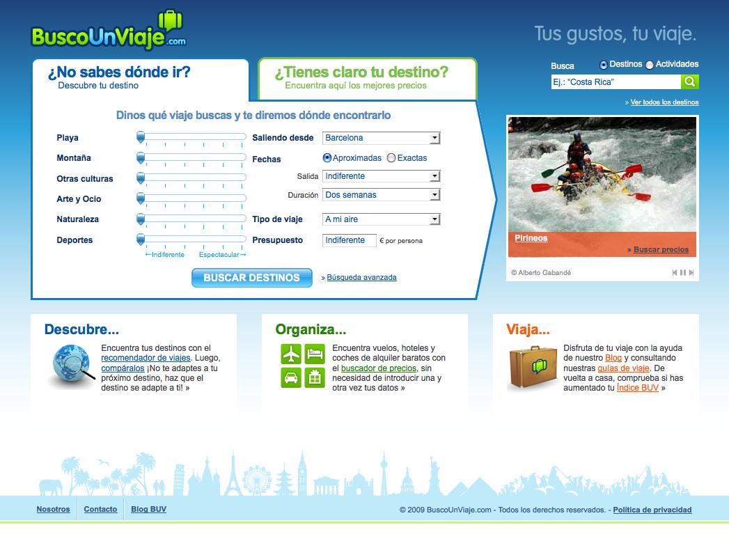 Web Busco Un Viaje