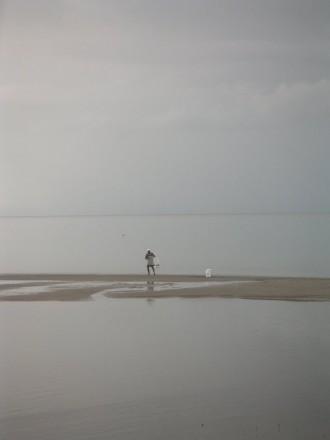 Pescador entre el cielo y la tierra