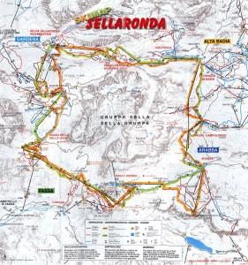 Mapa de esquí de la Sella Ronda