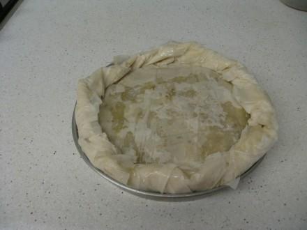 La Pastela preparada para el horno - Pastela
