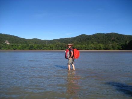 Desembarco en el parque nacional de Bako
