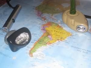 Frontal, linterna y dinamo para viaje