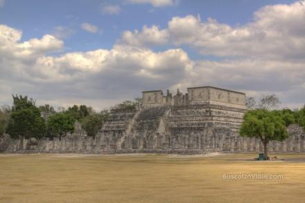 Templo de los guerreros y de las 1000 columnas en Chichen Itza