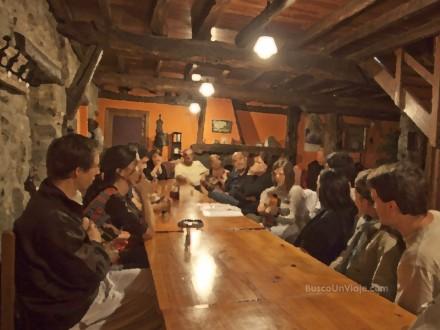 Salón de la casa rural de Artaunsoro
