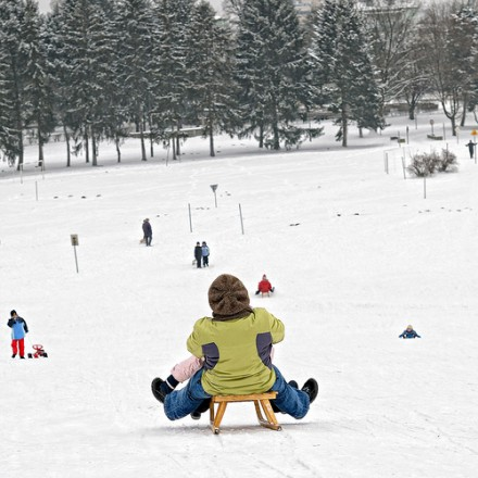 Trineo en la nieve - sollyth, flickr.