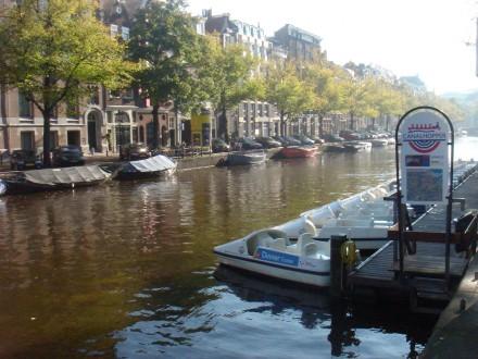 Ámsterdam: embarcadero de bicicletas de Agua