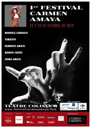 Cartel del Festival Flamenco Carmen Amaya