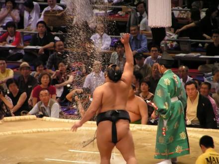 Un poco de sumo durante el viaje a Japón