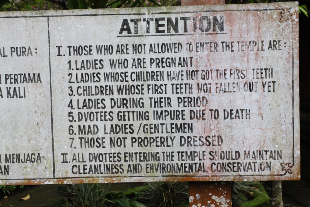 Cartel templo Bali
