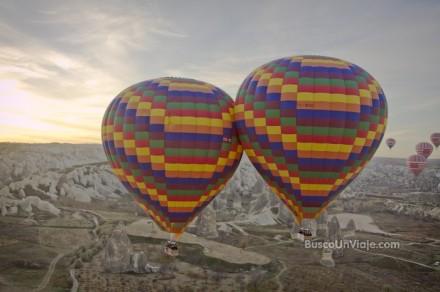 Vuelo en globo por Capadocia (Turquía)