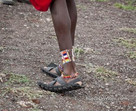 Calzado de un masai