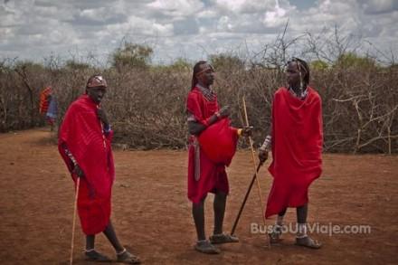 Masais en Kenia