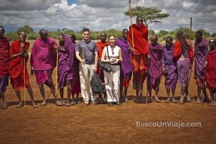 Saltando con los Masais
