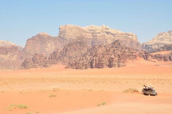 Desierto rojo de Wadi Rum en Jordania