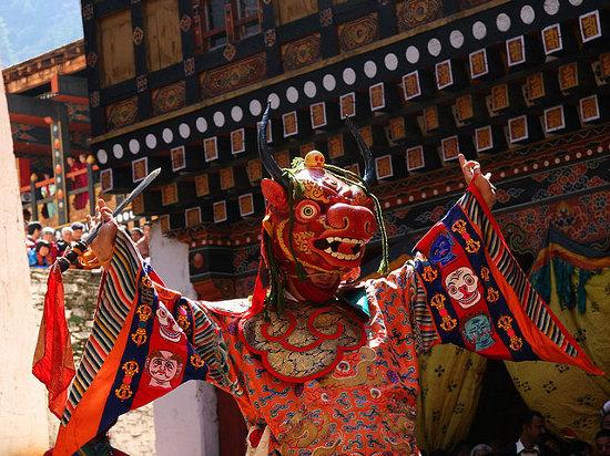 La danza del señor de la Muerte en Paro, Bután