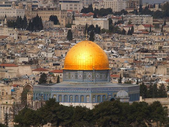 Vistas desde el Convento Ecce Homo en Jerusalén