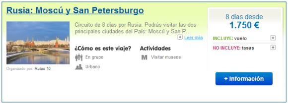 Viajes a Moscú y San Petersburgo
