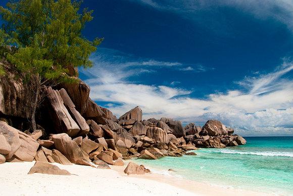 Grande Anse Beach, Isla de La Digue (Islas Seychelles)