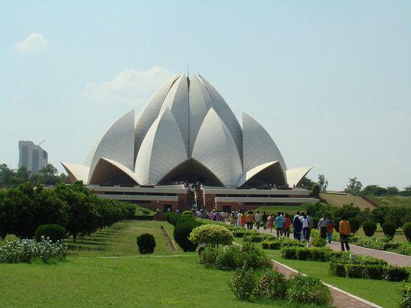 Templo de Loto, Nueva Delhi (India)