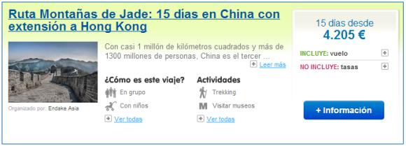 Viajes a China Montañas de Jade