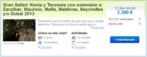 Viajes a Tanzania para la gran migración