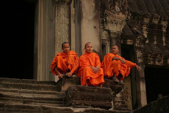 Puesta de sol en Camboya