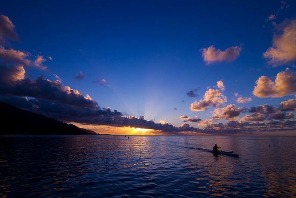 Puesta de sol en Polinesia Francesa