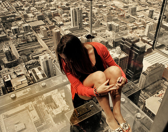 The Ledge en la Willis Tower de Chicago (Estados Unidos)