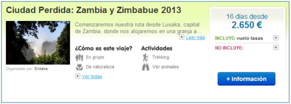 Viajes a Zambia y Zimbabue