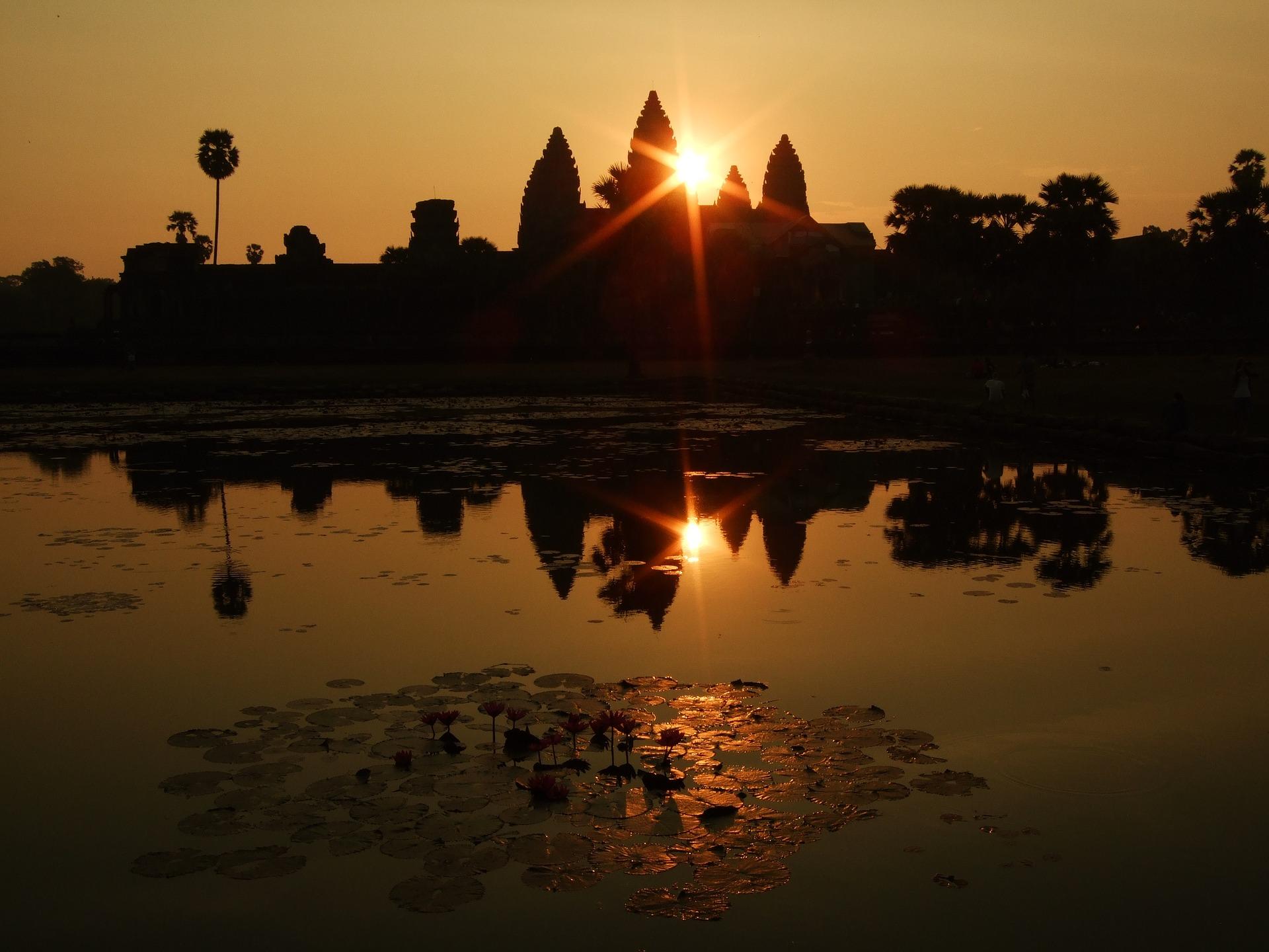 Angkor Wat puesta de sol
