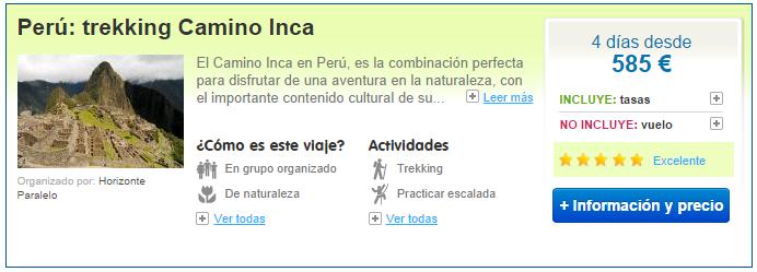 Viajes a Perú y Camino Inca