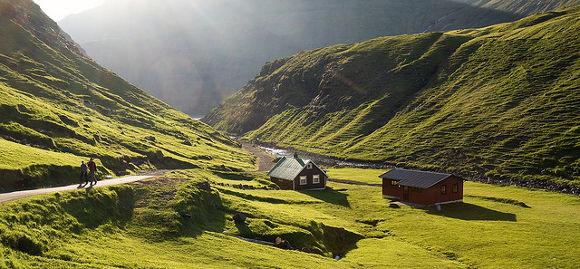 Saksun en las Islas Feroe