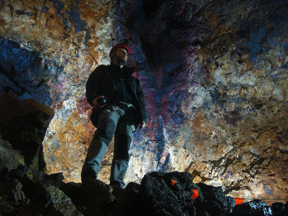 Cámara magmática del volcán Thrihnukagigur