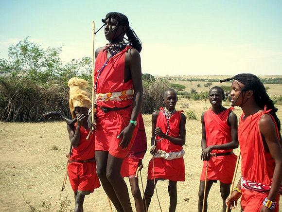 Masai en Kenia