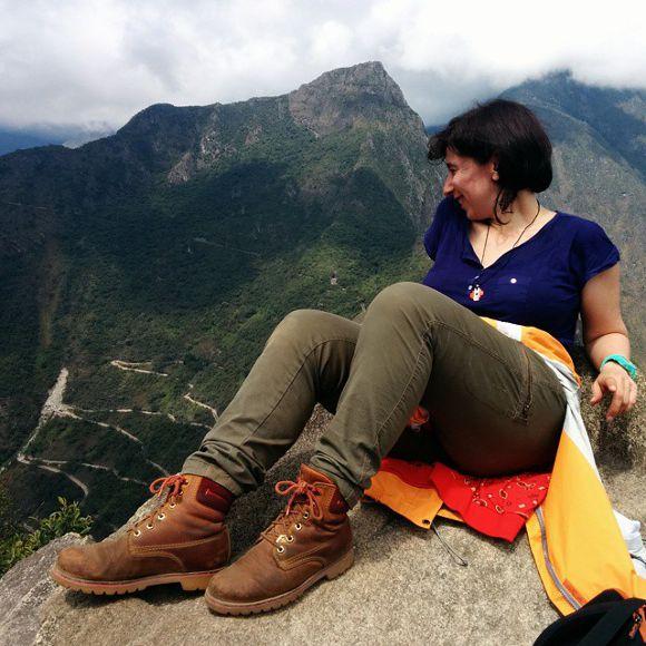 Alicia Ortego en Huayna Picchu, Perú