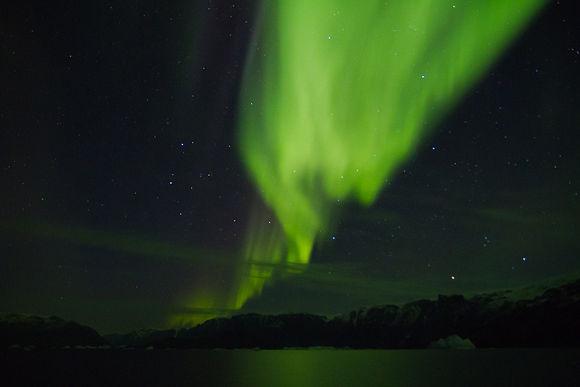 Aurora Boreal en Groenlandia