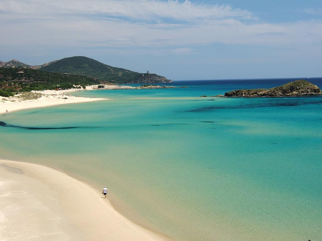 Playa tuareda Cerdeña Italia