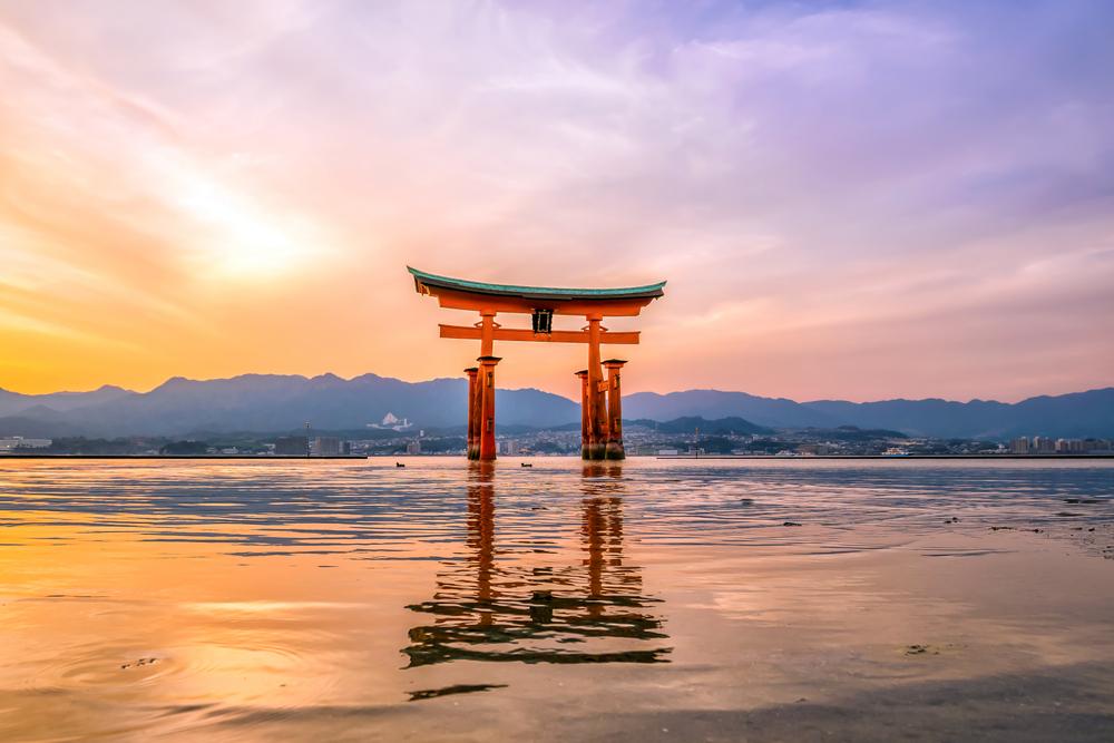 Viajes a Japón, torii de Miyajima