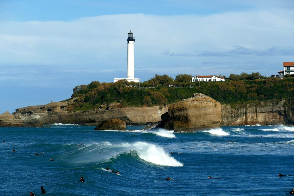 Côte des Basques Biarritz en Francia