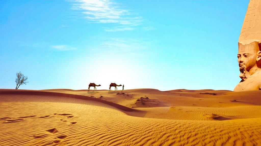Desierto del Sahara en Egipto