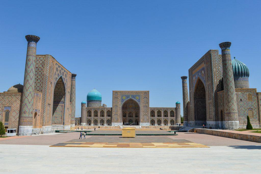 El registán en Samarkanda Uzbekistán