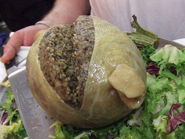 Haggis comidas típicas de Escocia