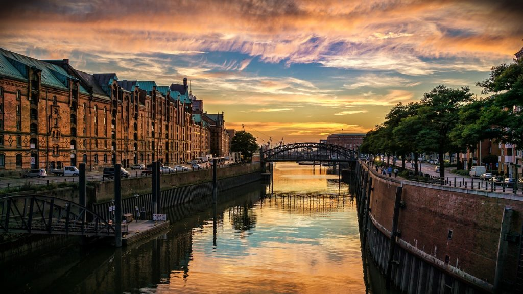 Canales de Hamburgo Alemania