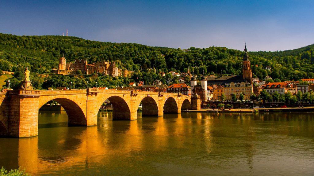 Heidelberg y el río Neckar Alemania