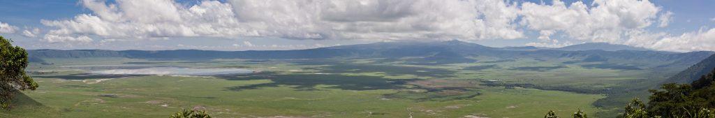 Crater ngorongoro foto panoramica