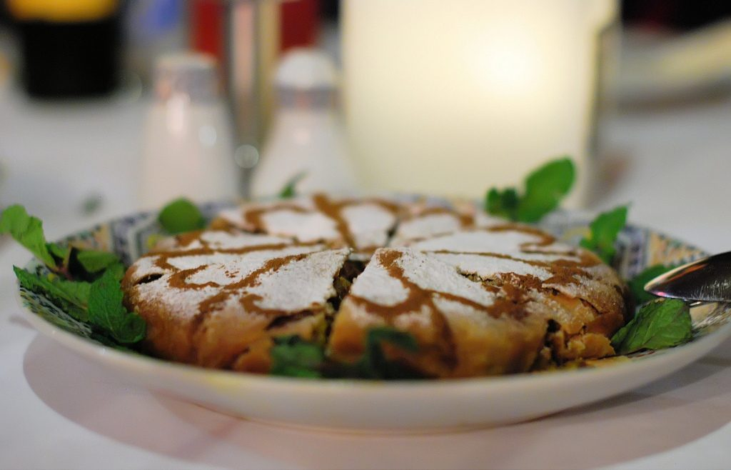 Pastilla comida típica de Marruecos