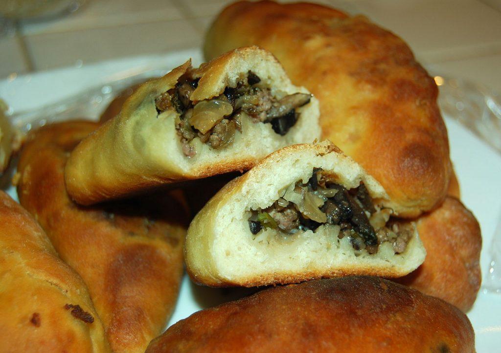 Pirozhki comida típica de Rusia
