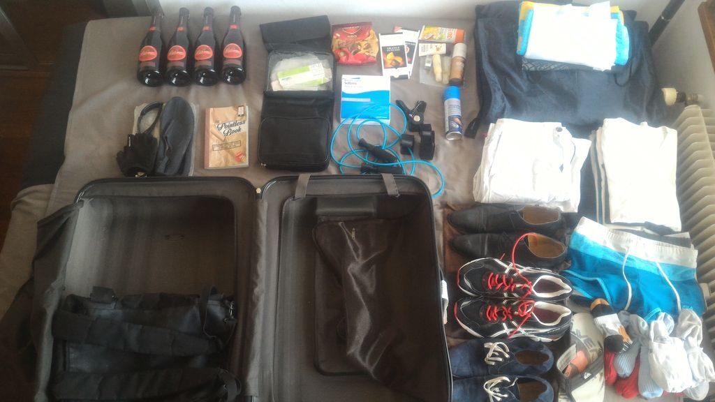 Preparando la maleta