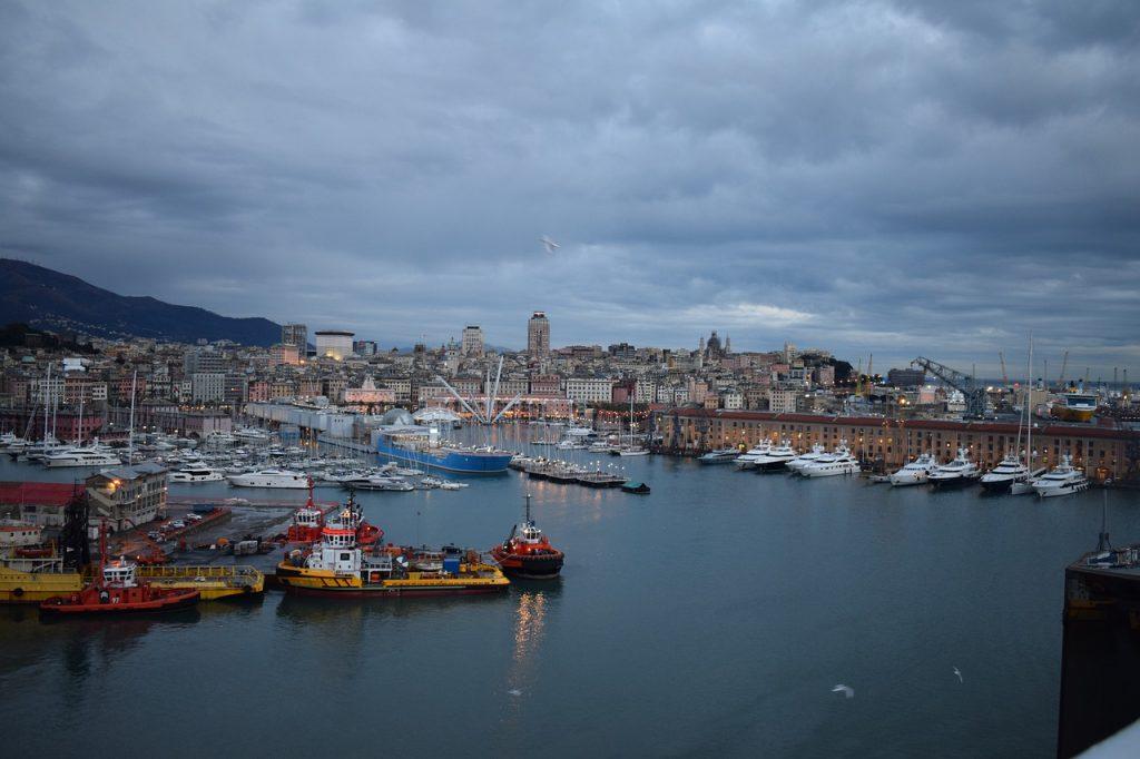 Puerto de Génova Italia