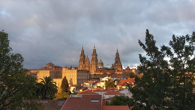 Santiago de Compostela Camino de Santiago en moto